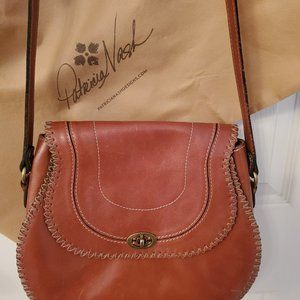 Patricia Nash Brown Leather Handbag CrossBody